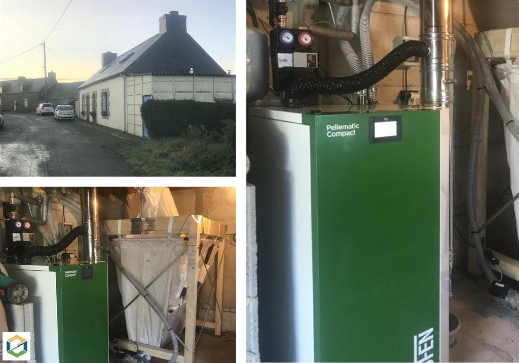 Installation d'une chaudière à granulés de bois ÖkoFen à chargement automatique