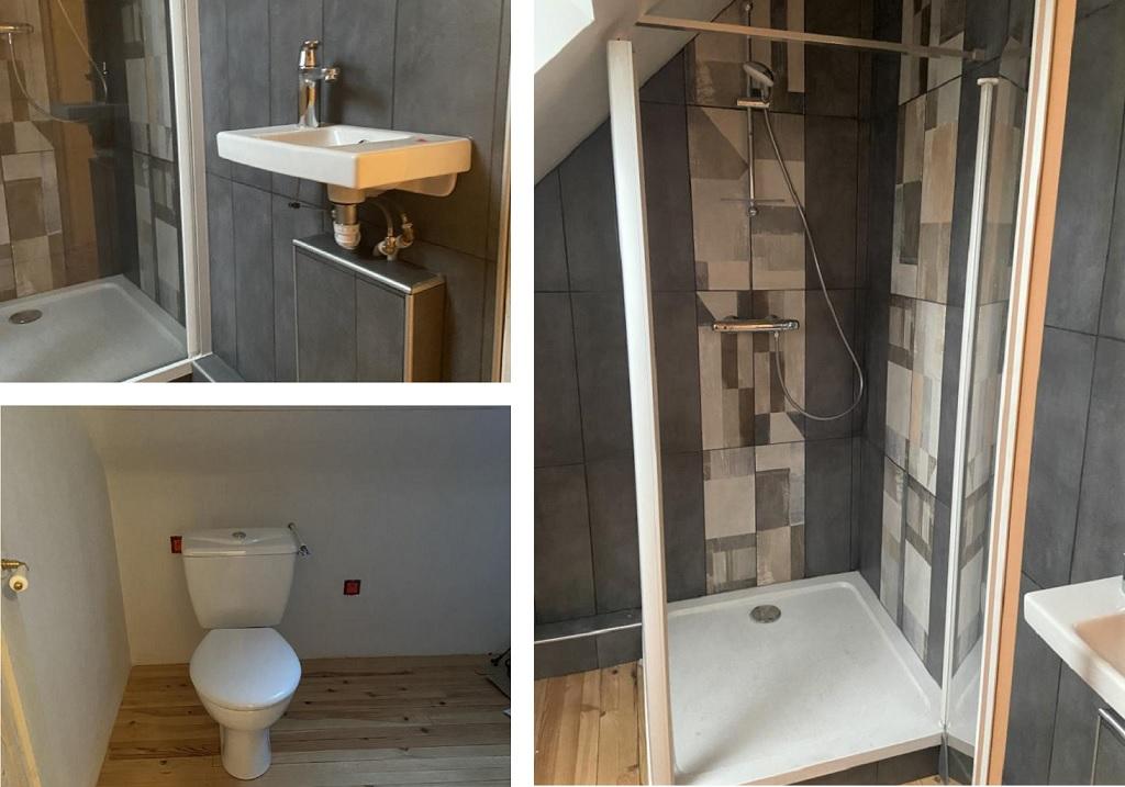 Création d'une salle de bain à l'étage d'une maison