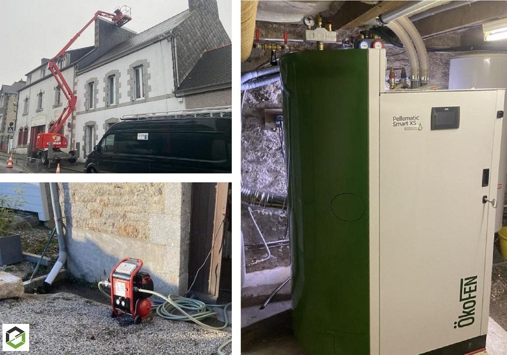Désembouage - Nettoyage du circuit de radiateurs avant l'installation d'une chaudière à pellets ÖkoFen-Côtes d'Armor (22)