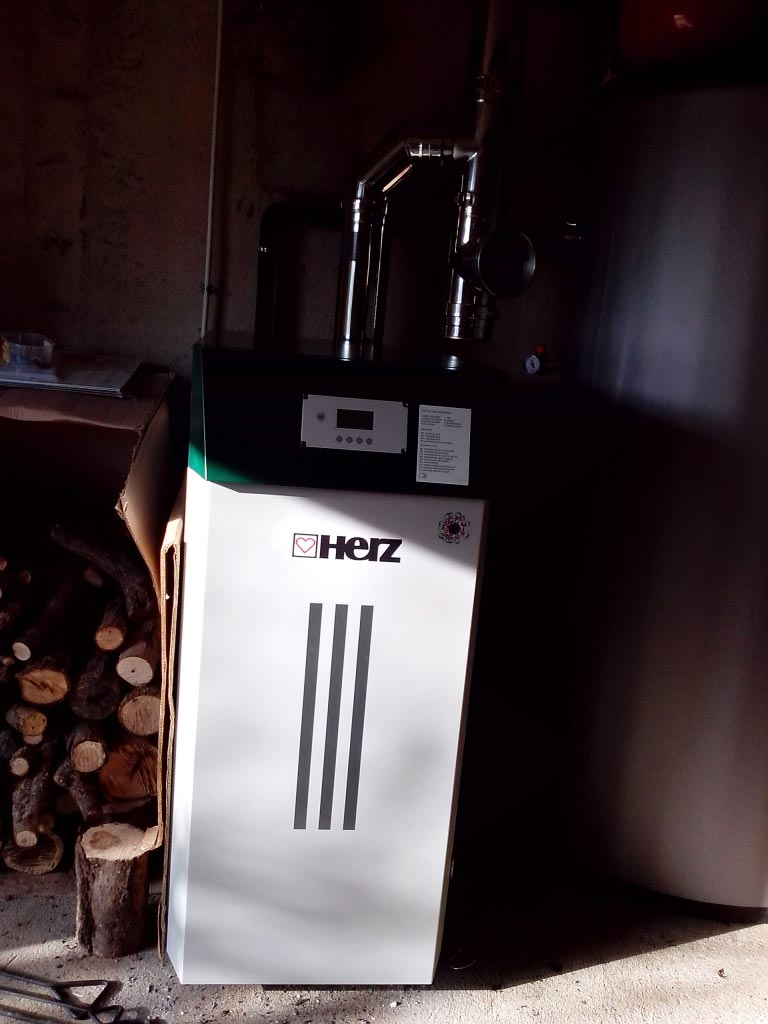 Chaudière à bois bûches HERZ à POMMIERS, Indre (36)