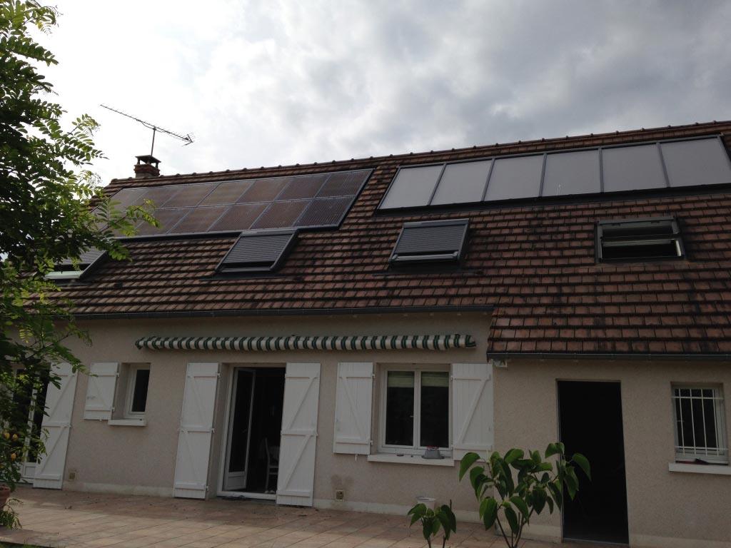 Chauffage solaire combiné à Onzain, 41 Loir et Cher