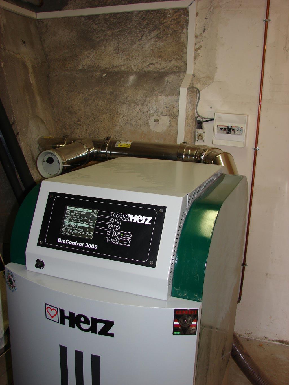 Chaudière à granulés HERZ à Molineuf,  Loir et Cher (41)
