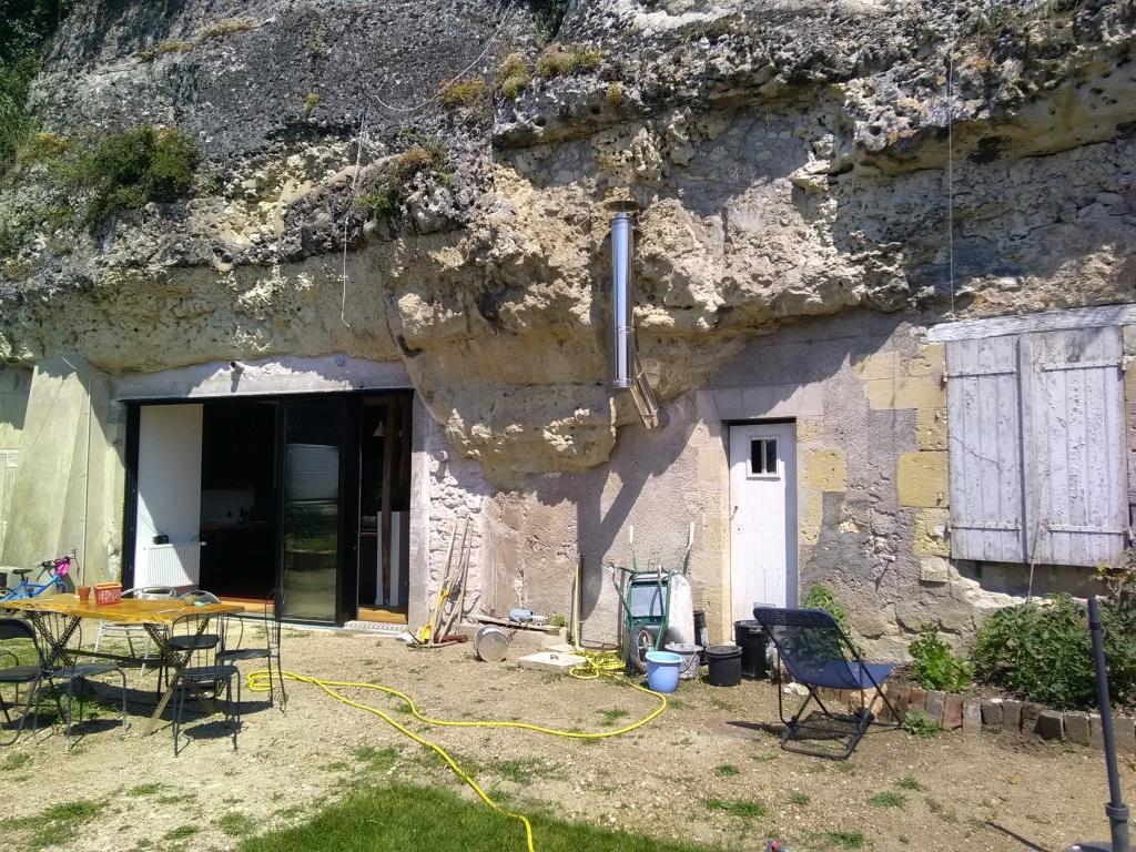ETS HELIOSOLIS - chaudière à granulés FROLING dans un troglodyte-Indre et Loire (37)