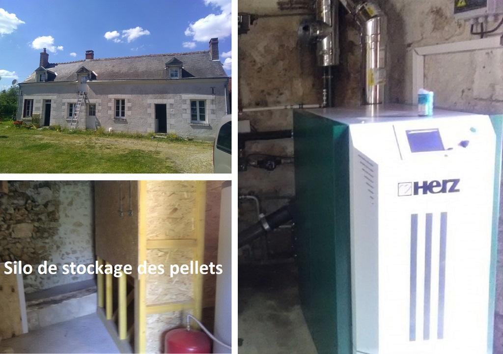 Installation chaudière à granulés de bois - ETS HELIOSOLIS-Loir et Cher (41)