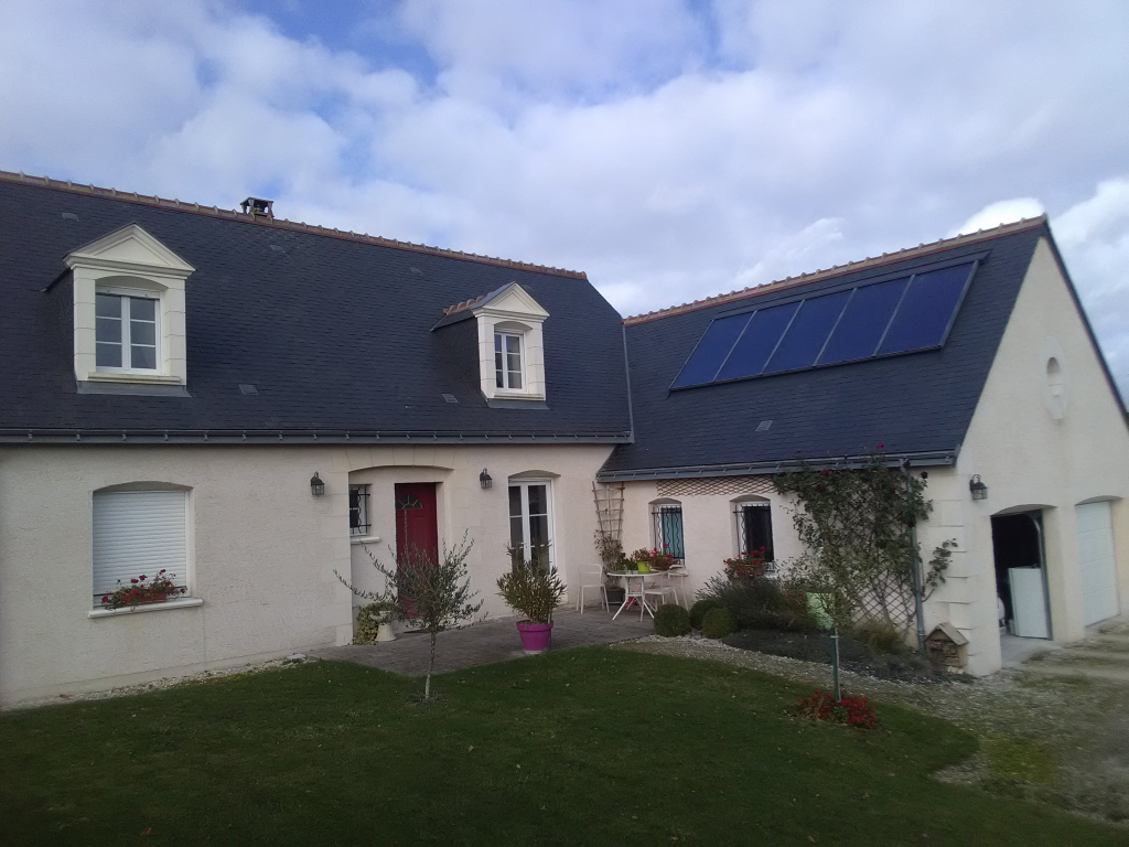Chauffage et eau chaude solaire GASOKOL et Poêle à pellets CALIMAX à Saint-Jean Saint-Germain, Indre et Loire (37)-Indre et Loire (37)