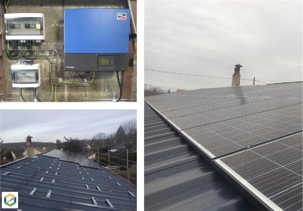 PRODUCTION SOLAIRE PHOTOVOLTAÏQUE Avec pose de panneaux solaire photovoltaïque sur un hangar
