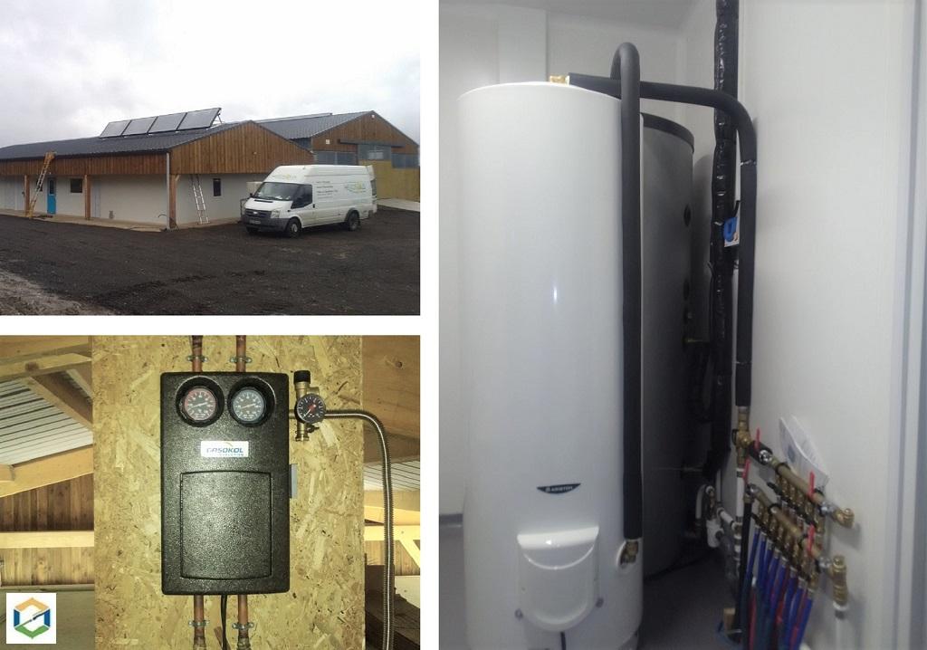 Eau chaude solaire (CESI) sur bâtiment d'élevage caprin-Loir et Cher (41)