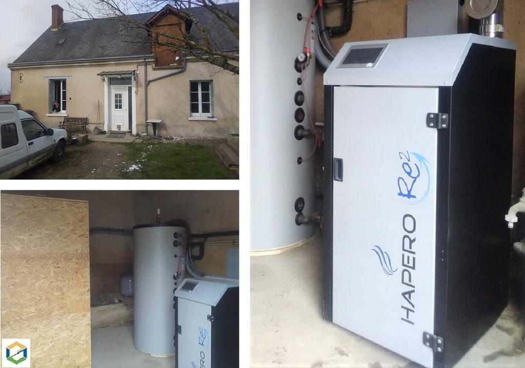 installation d'une chaudière granulés HAPERO en remplacement d'une chaudière Fuel-Loir et Cher (41)