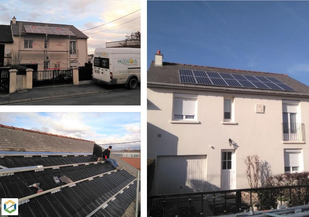 Remise en conformité d'une installation de panneaux solaires photovoltaïques
