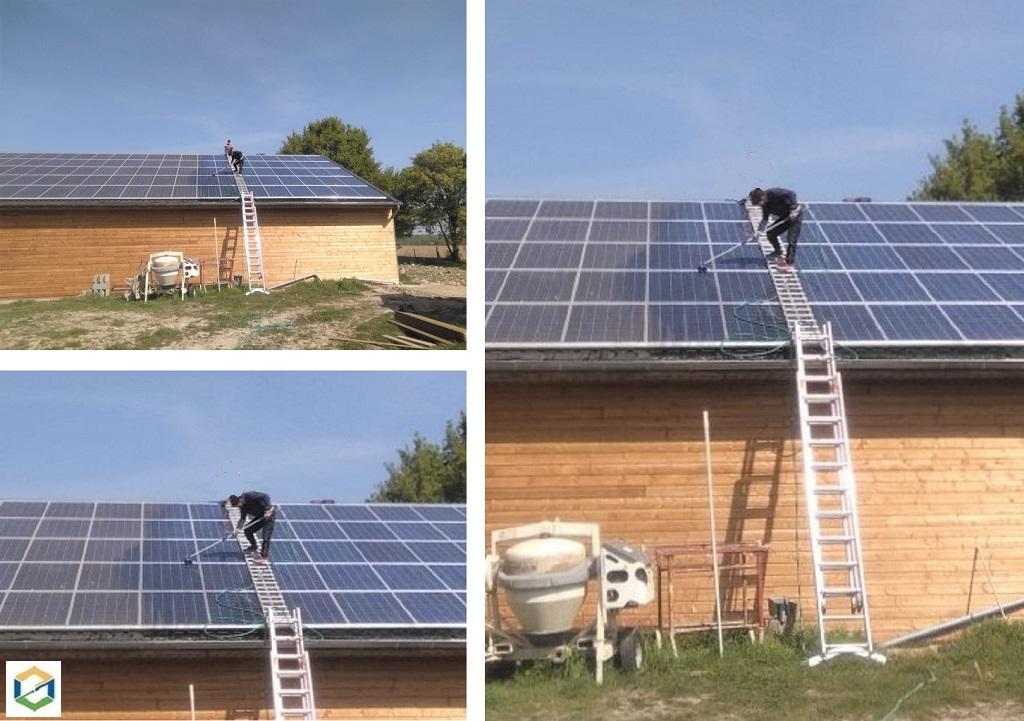Nettoyage de panneaux solaires photovoltaïques