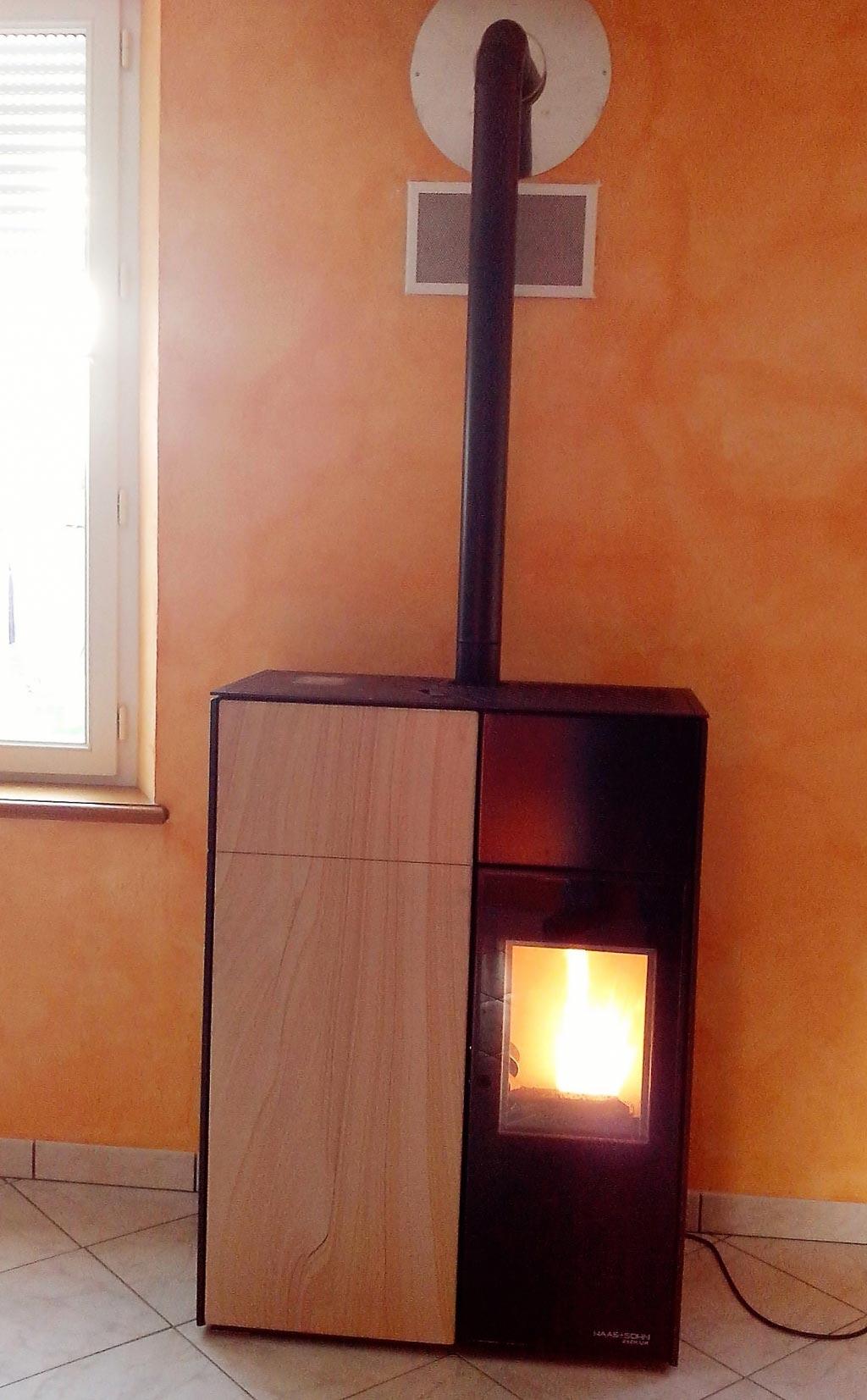 Poêle à granulés de bois HAAS & SOHN à Orchaise, Loir et Cher (41)-Loir et Cher (41)