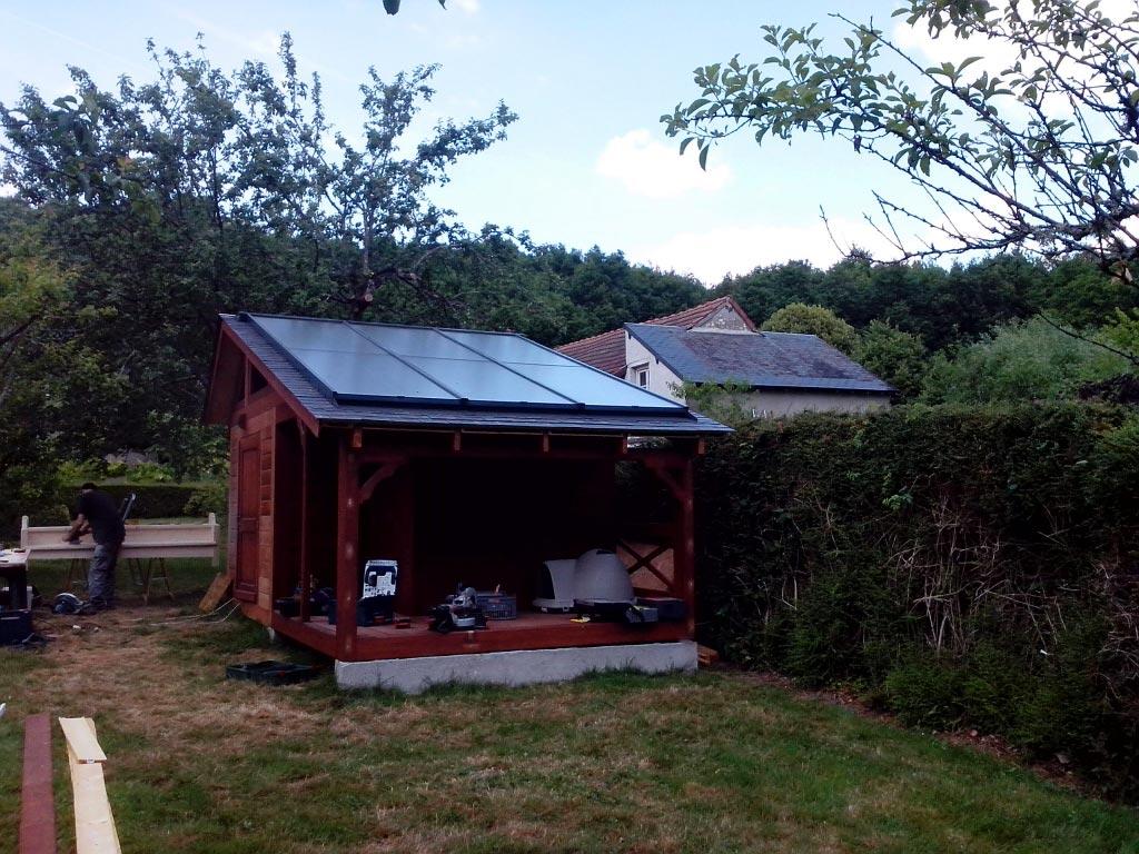 Chauffage solaire GASOKOL  pour piscine à Chambon sur Cisse,  Loir et Cher (41)