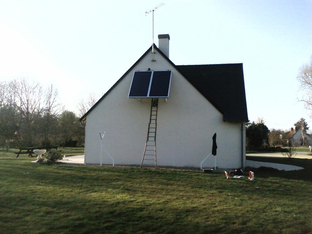Eau chaude solaire à St Etienne de Chigny - 37 Indre et Loire-Indre et Loire (37)