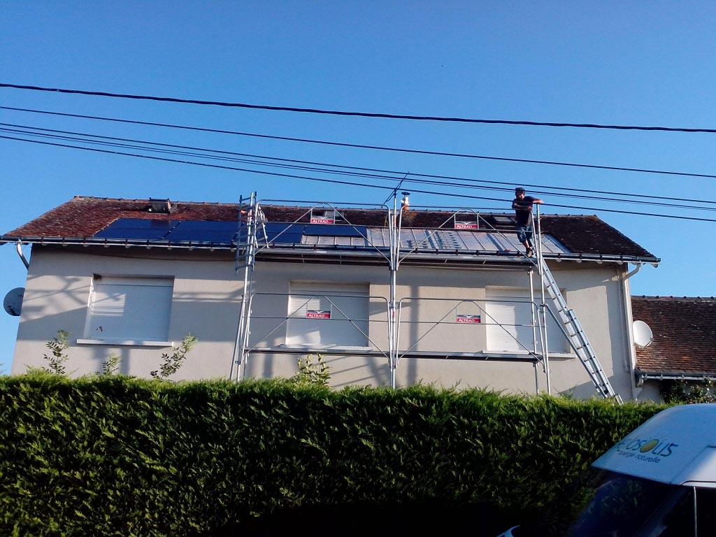 Intervention sur générateur photovoltaïque défectueux à Cangey, Indre et Loire (37)-Indre et Loire (37)