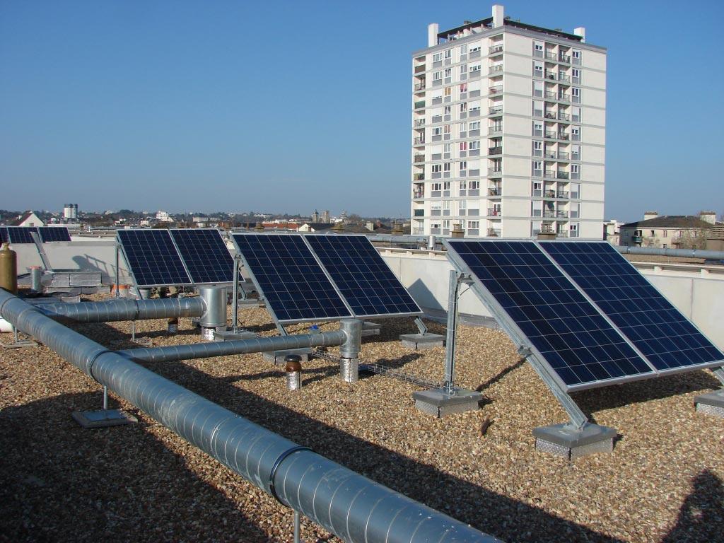 Installation photovoltaïque sur Terrasse à Tours - 37 Indre et Loire