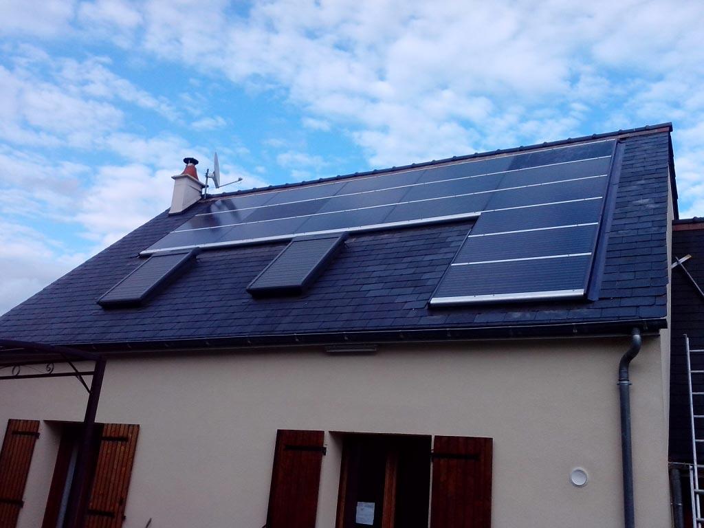Remise en état d'une installation photovoltaïque défectueuse à Chanceaux sur Choisille (37) Indre et Loire-Indre et Loire (37)