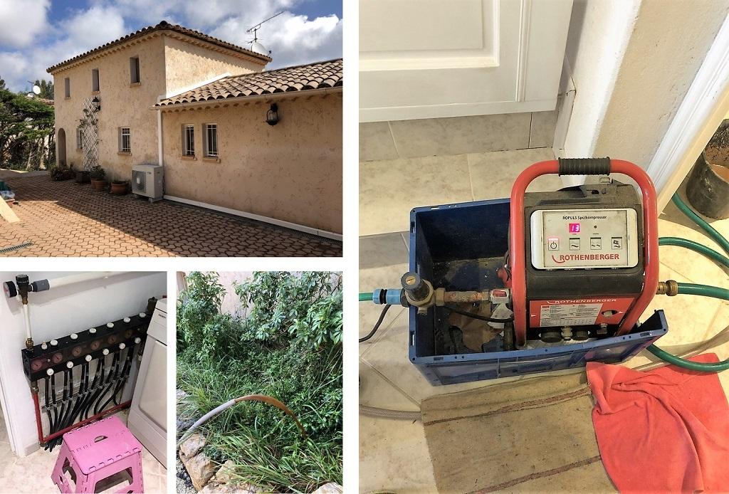 Nettoyage plancher chauffant avec air pulsé à Valbonne Côte d'Azur 06-Alpes Maritimes (06)