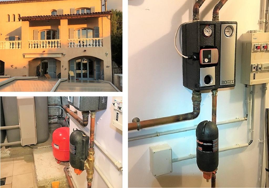 Pose d'un filtre de chauffage JUDO sur plancher chauffant et réparations dans le 06-Alpes Maritimes (06)