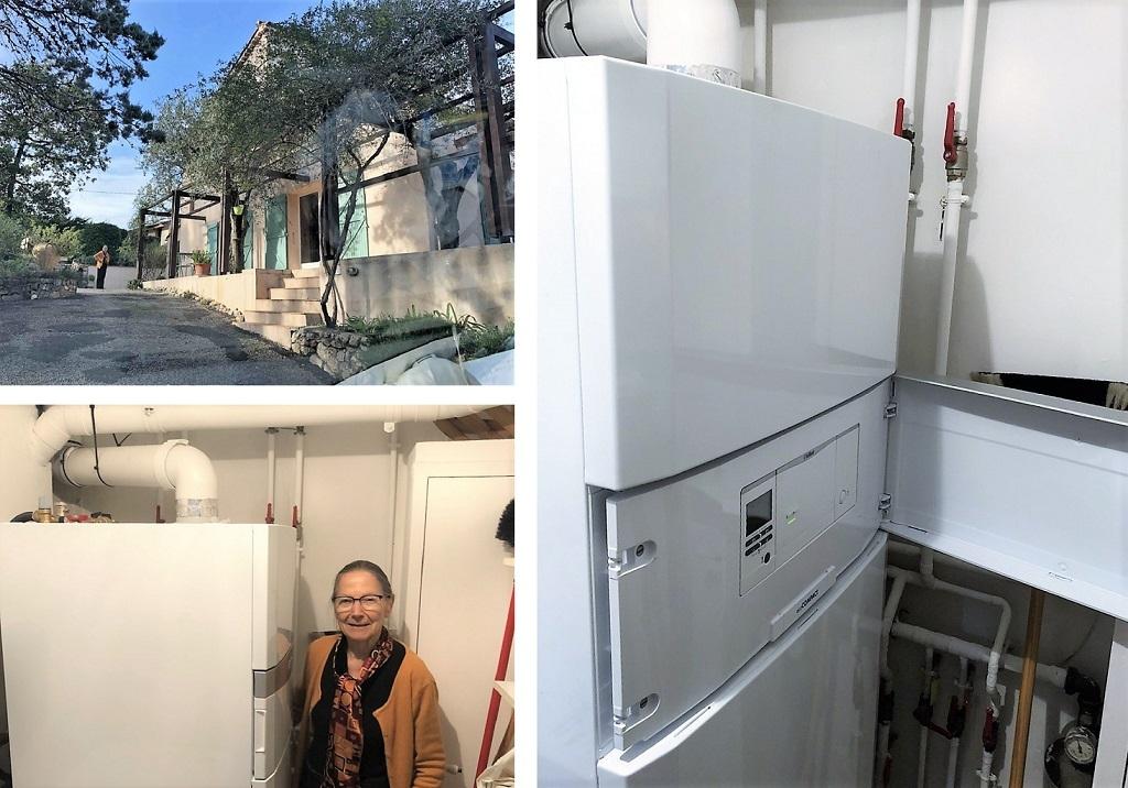 Artisan chauffagiste installation chaudière Vaillant gaz condensation Eco compact chauffage et eau chaude-Alpes Maritimes (06)