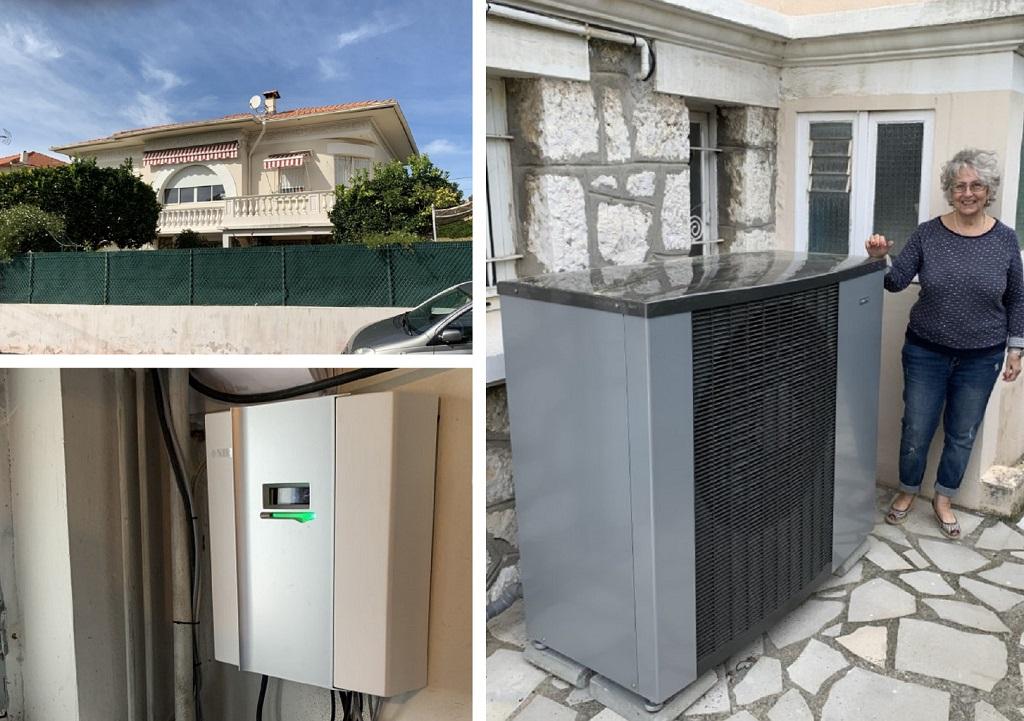 Pose d'un Pompe à chaleur NIBE 2120 en remplacement d'une chaudière Gaz atmosphérique-Alpes Maritimes (06)