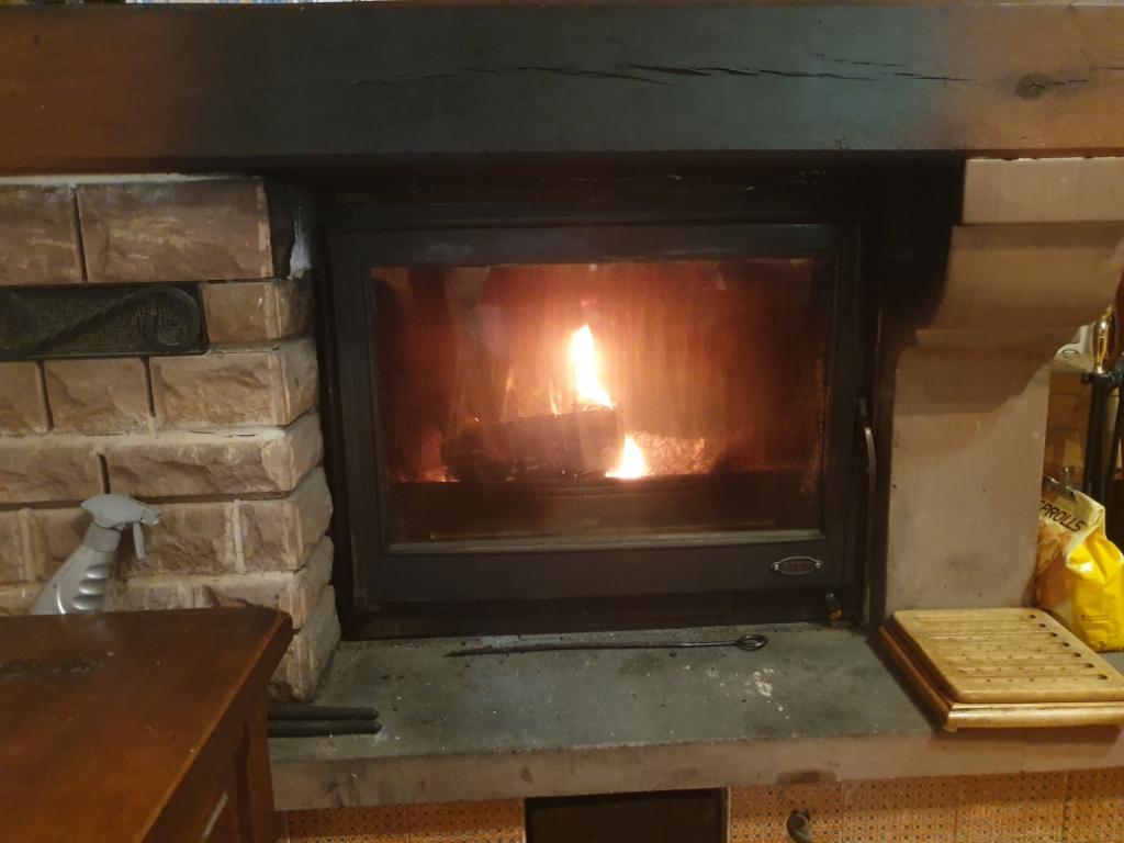réfection et amélioration d'un insert bouilleur bois bûches Godin