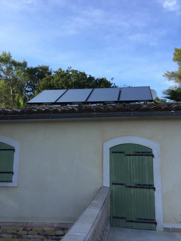 Chaudière granulés Domusa et solaire Rotex à Biot - 06 Alpes Maritimes-Alpes Maritimes (06)