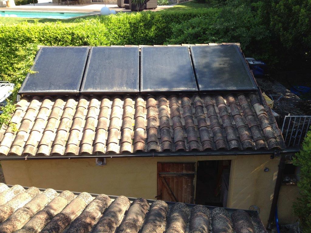 Système Solaire Combiné avec Chaudière Condensation Gaz Rotex sur plancher chauffant 06 à Grasse - Alpes Maritimes