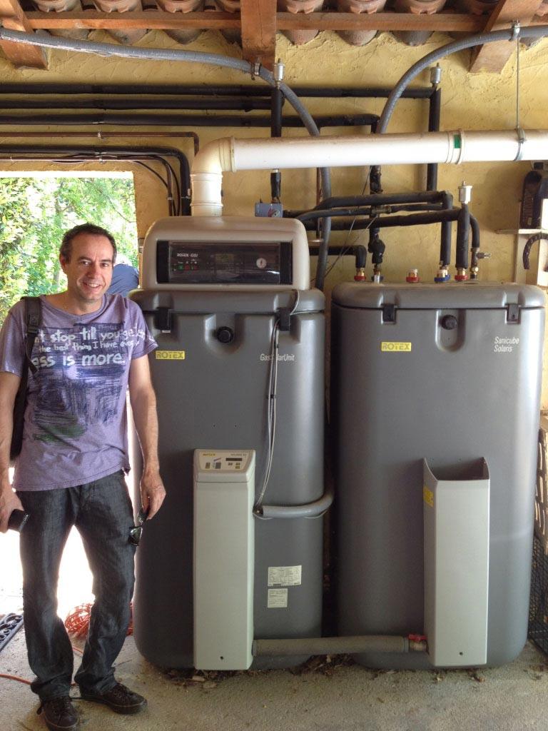 Système Solaire Combiné avec Chaudière Condensation Gaz Rotex sur plancher chauffant 06 à Grasse - Alpes Maritimes-Alpes Maritimes (06)