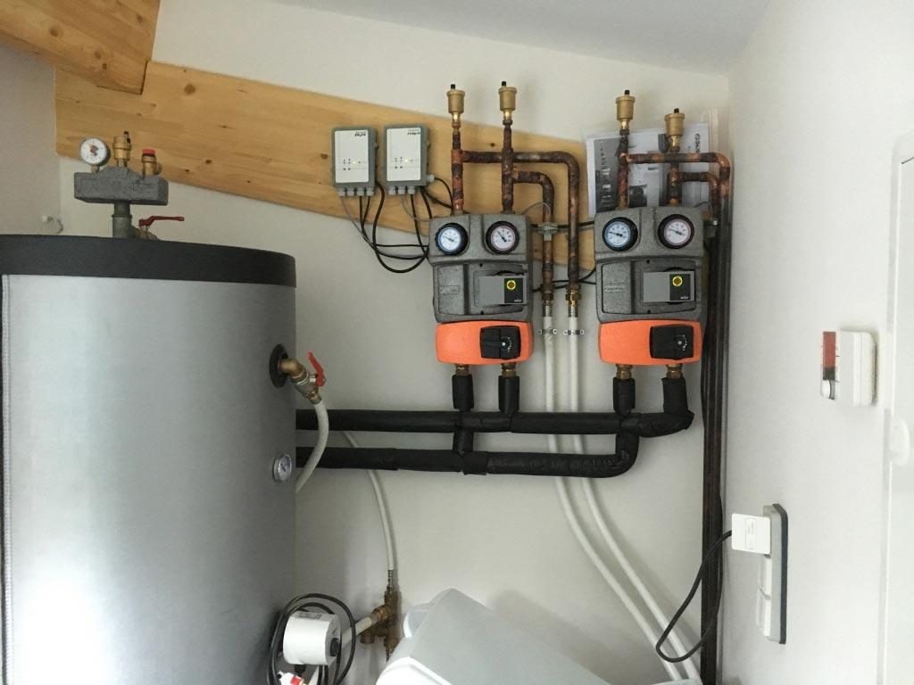 Installation d 39 une pompe a chaleur monobloc sdeec de 13 kw - Pompe a chaleur monobloc interieur ...