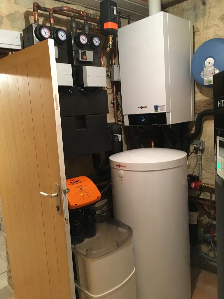 Installateur pro actif VIESSMANN - installation d'une chaudière gaz à condensation