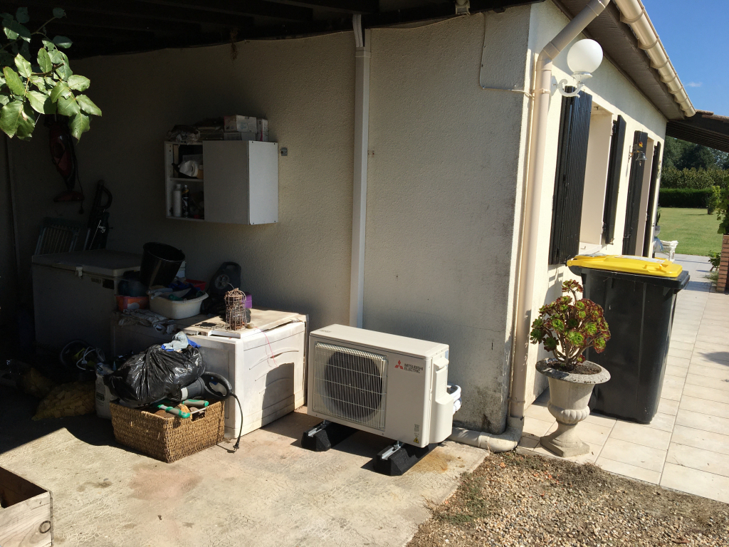 Installateur RGE QualiPAC - climatisation réversible MITSUBISHI ELECTRIC-Gironde (33)