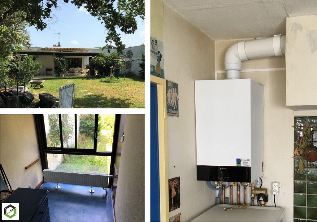 Installation d'une chaudière gaz condensation trés haute performance énergétique VIESSMANN-Gironde (33)