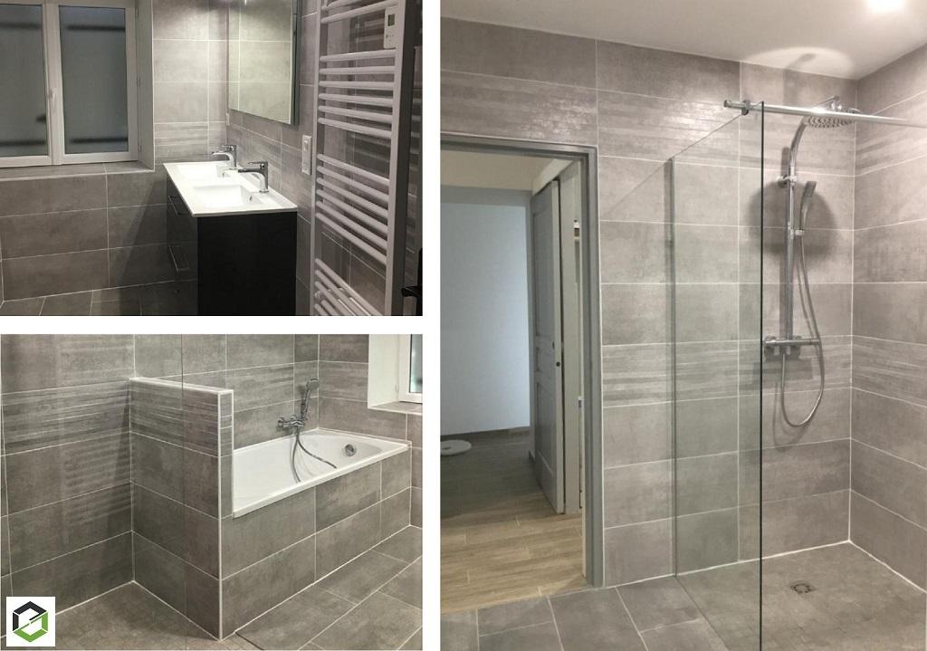 Création d'une salle de bain et wc - installateur RGE-Gironde (33)