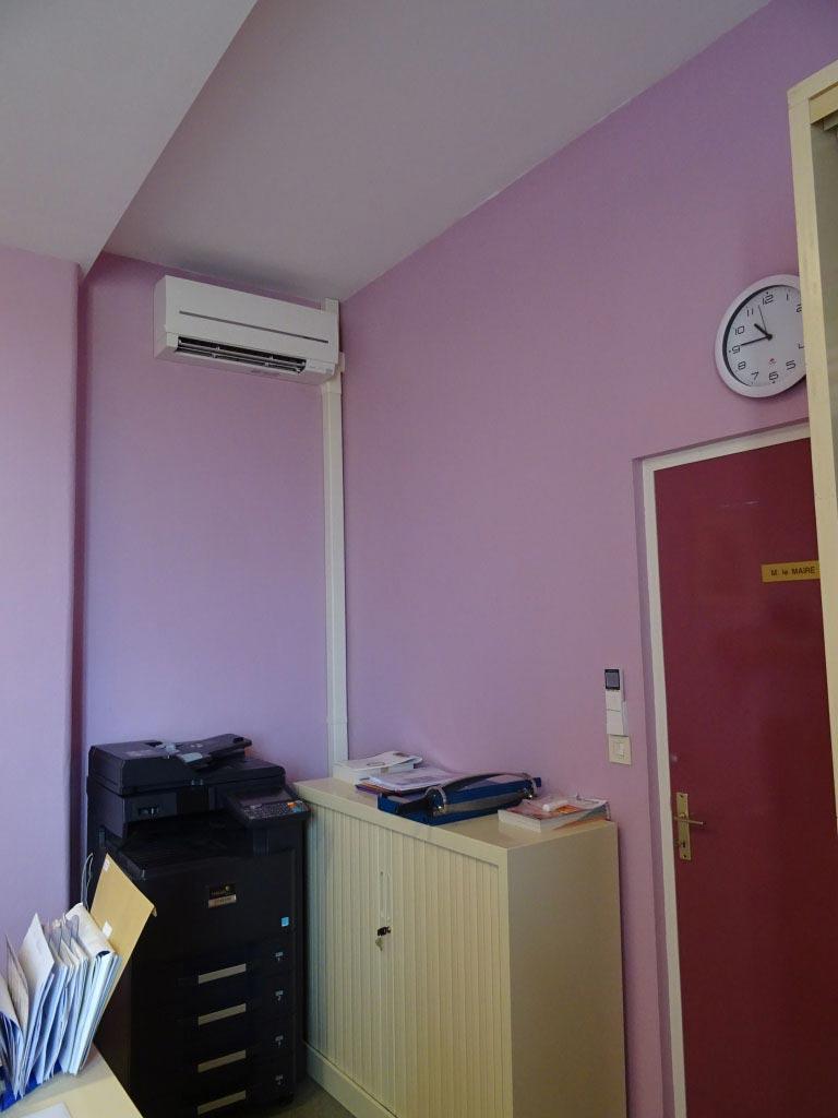 Climatisation Mitsubishi Electric à la Mairie de Mauriac 33 Gironde