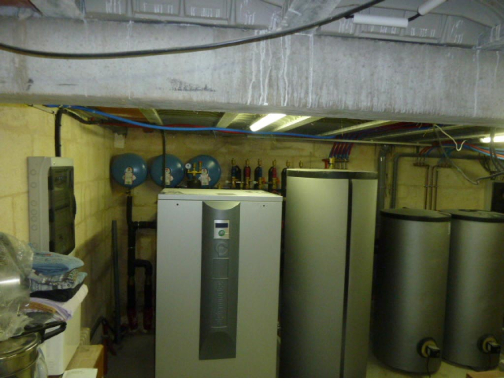Géothermie Alpha Innotec sur captage à Espiet - 33 Gironde