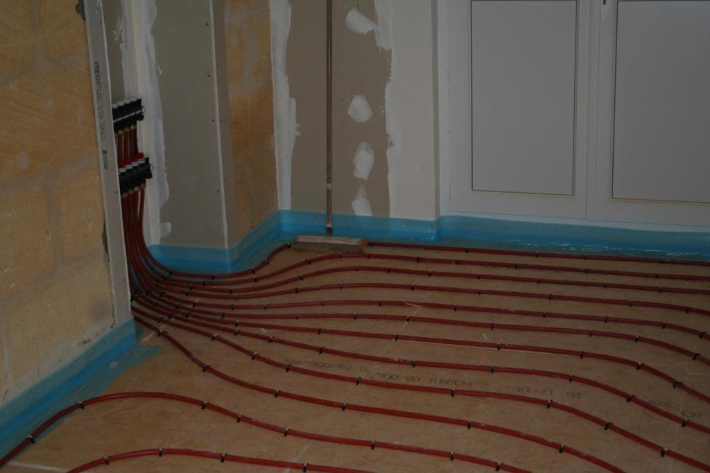 plancher chauffant r hau sur une r novation compl te espiet 33 espiet 33 fb energies. Black Bedroom Furniture Sets. Home Design Ideas