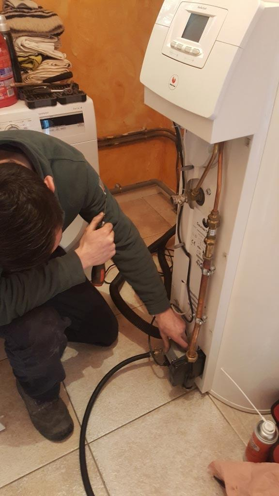 Entretien chaudière gaz condensation Saunier Duval