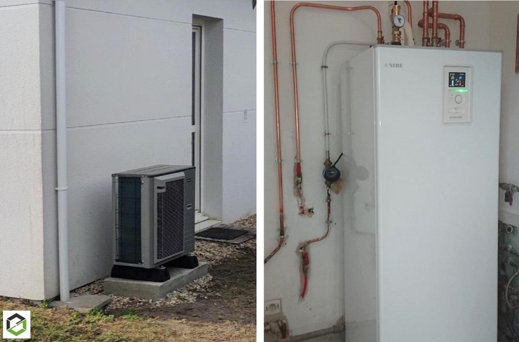PRIME COUP DE POUCE  - Remplacement d'une chaudière fioul non condensation par une pompe à chaleur air/eau NIBE