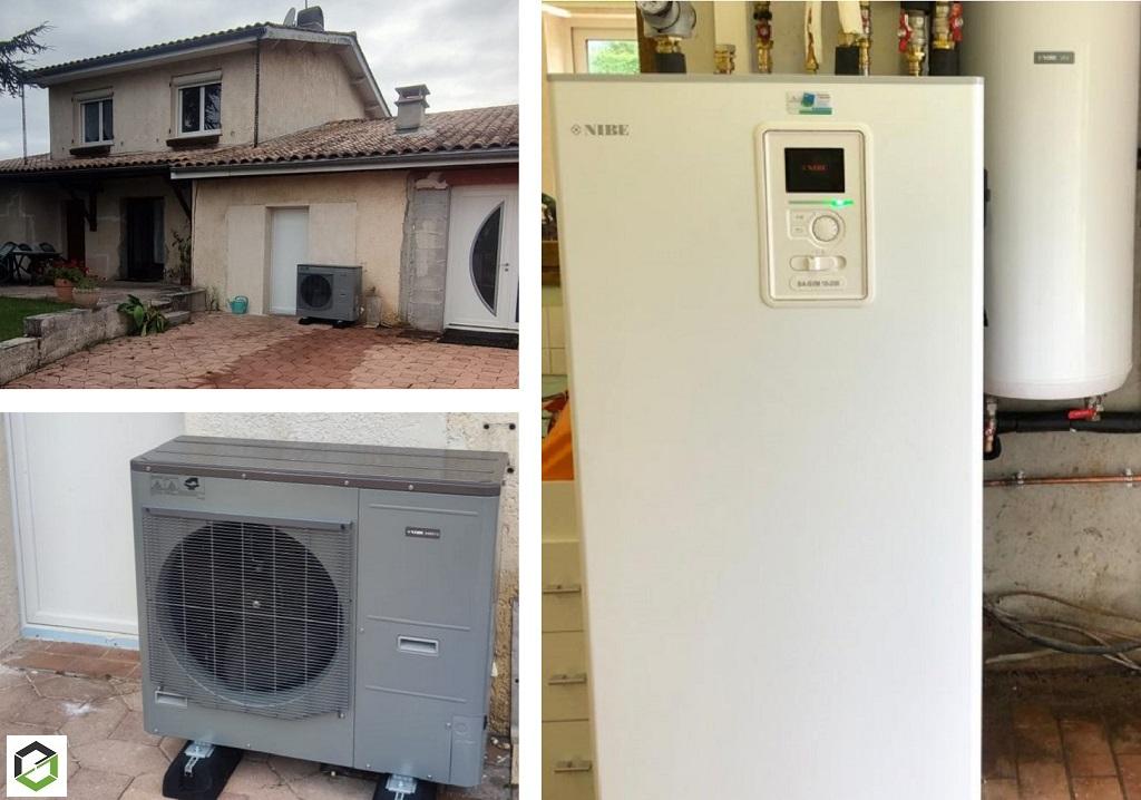 PRIME COUP DE POUCE  & MAPRIMERENOV - Remplacement d'une chaudière fioul non condensation par une pompe à chaleur air/eau NIBE