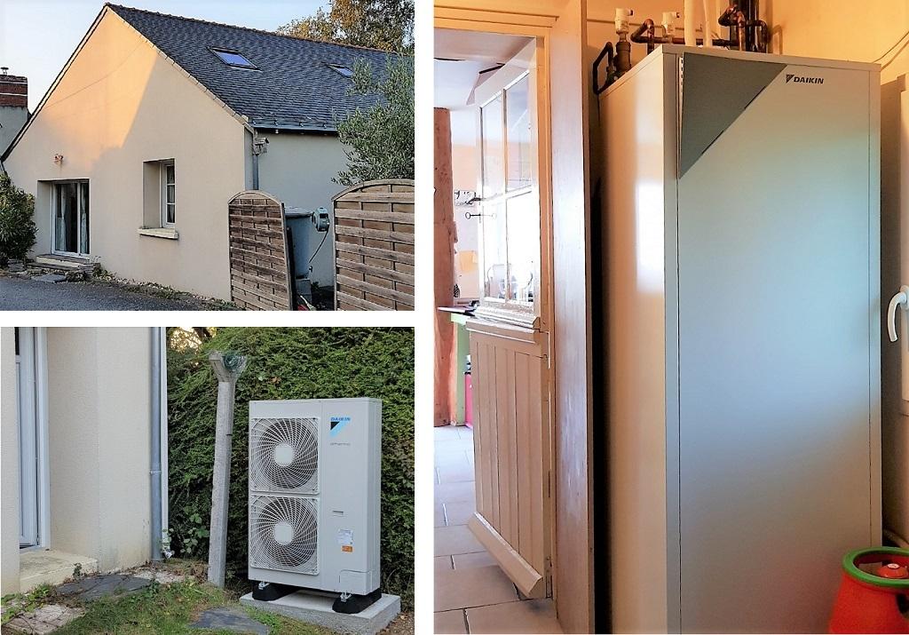 Installation pompe à chaleur DAIKIN aérothermie en économie d'énergie-Maine et Loire (49)