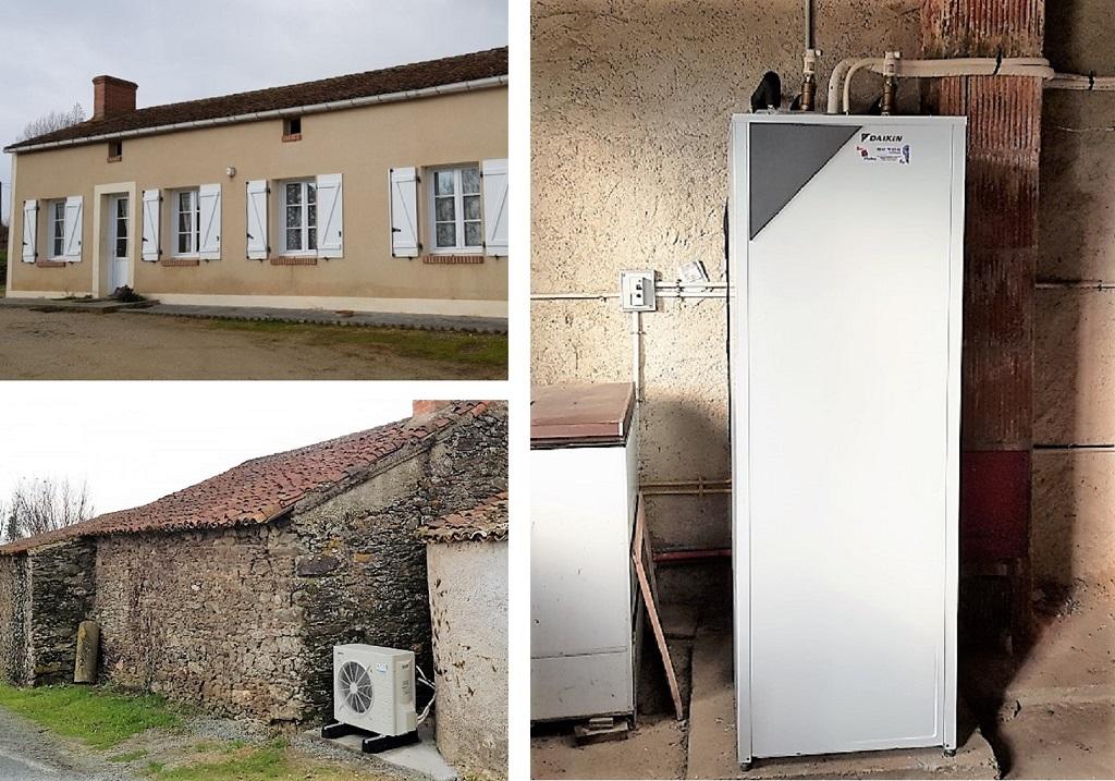 Installation pompe à chaleur air/eau en remplacement chaudière fioul-Maine et Loire (49)
