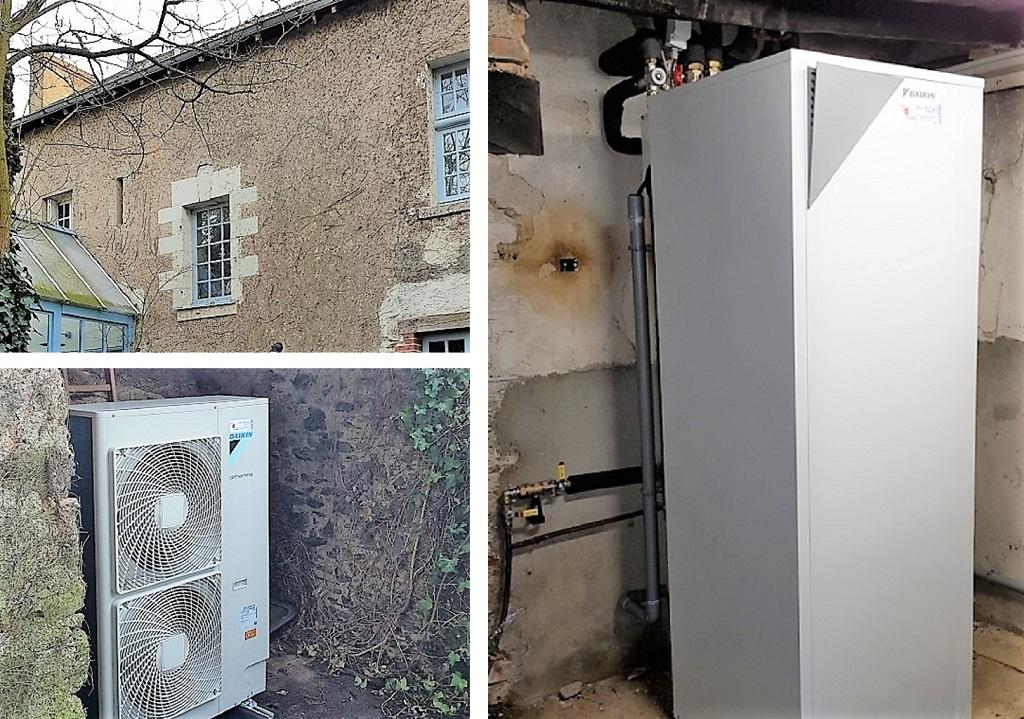 Installation PAC air/eau DAIKIN avec 2 départs -Maine et Loire (49)