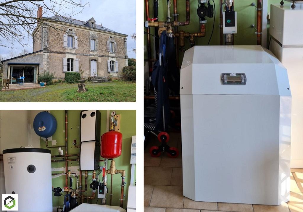 Installation d'une Pompe à chaleur EAU /eau dans une maison ~300 m²-Maine et Loire (49)