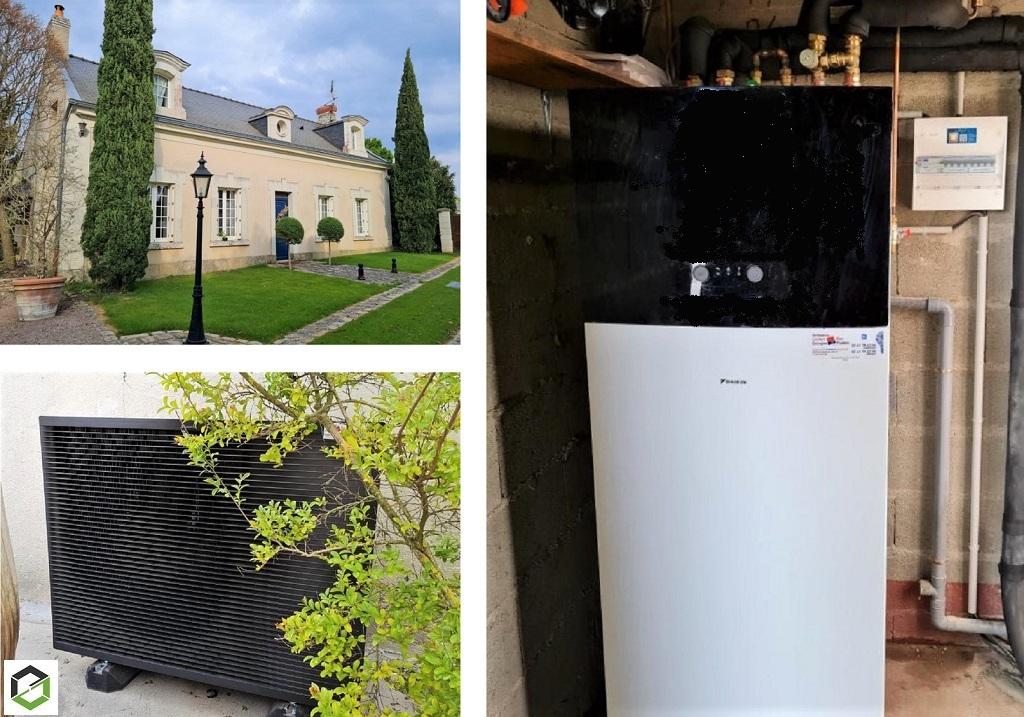 Remplacement chaudière fioul par une Pompe à chaleur air /eau - entreprise RGE QualiPAC-Maine et Loire (49)