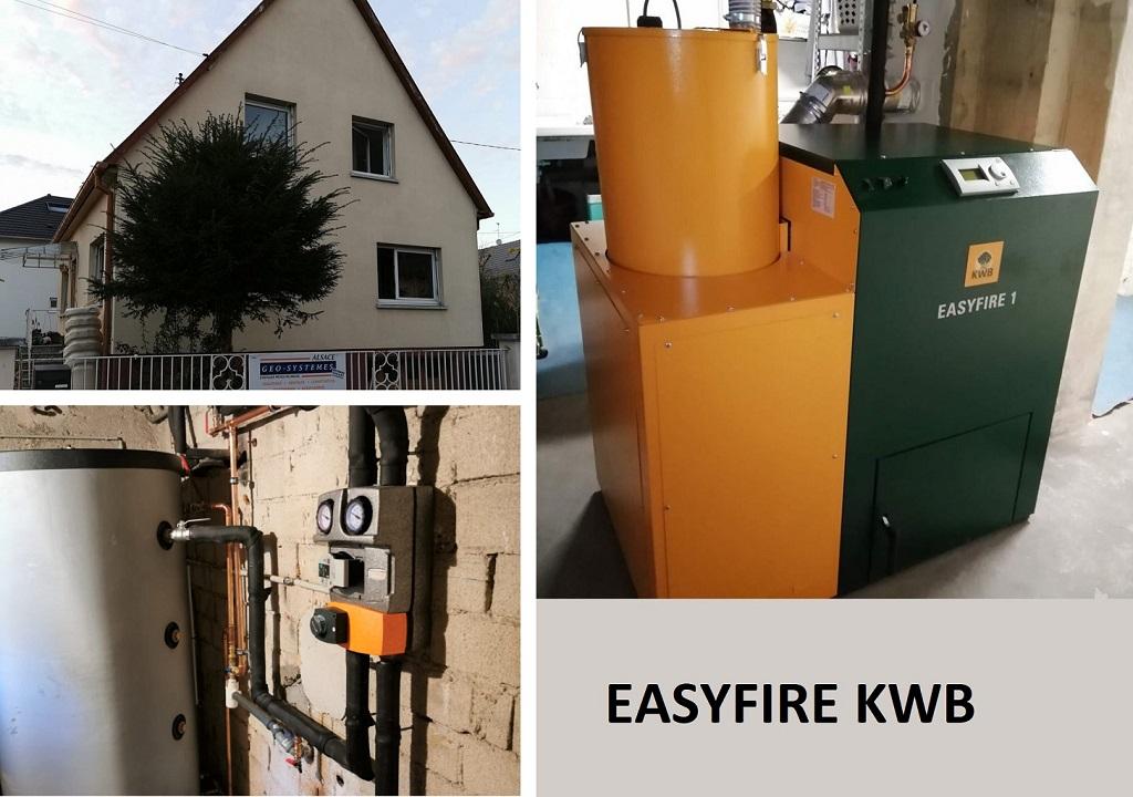 Installation chaudière Granule EasyfIre
