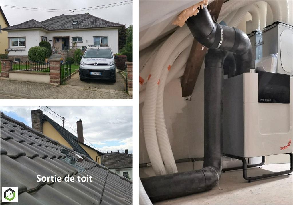 Installation VMC ventilation double flux