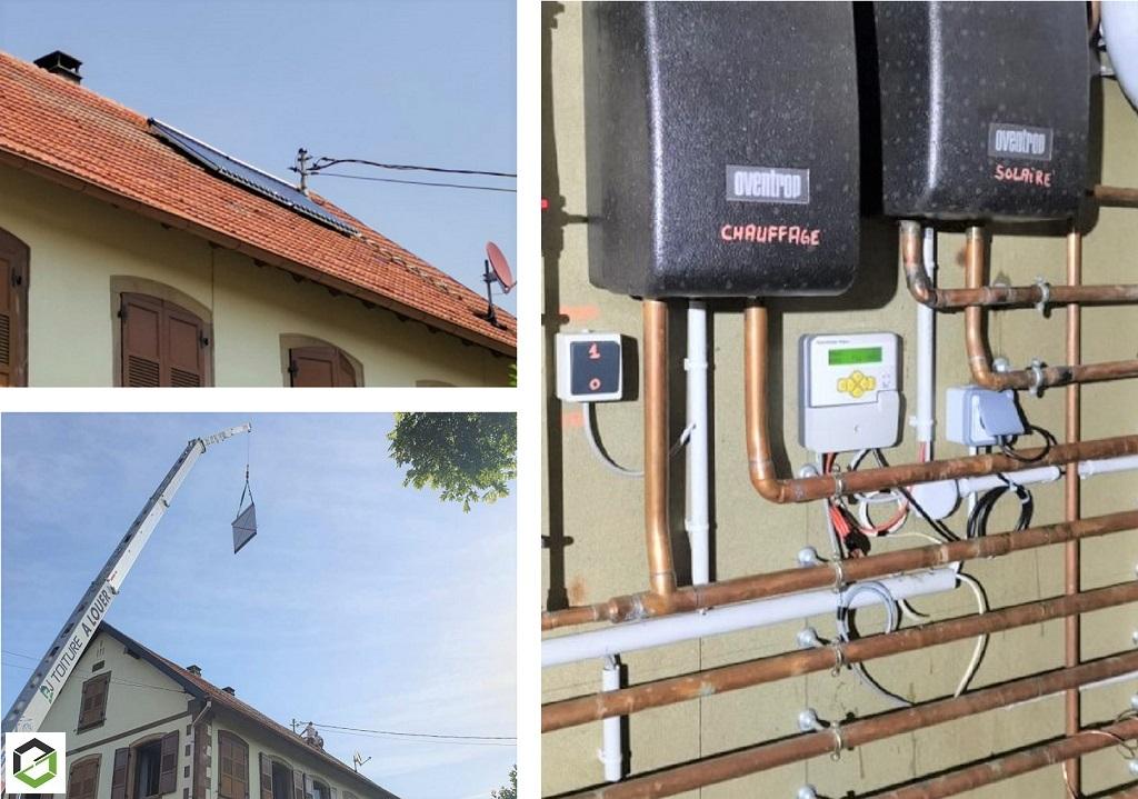 Remplacement de panneaux solaires thermique d'un chauffe-eau solaire (CESI) Paradigma