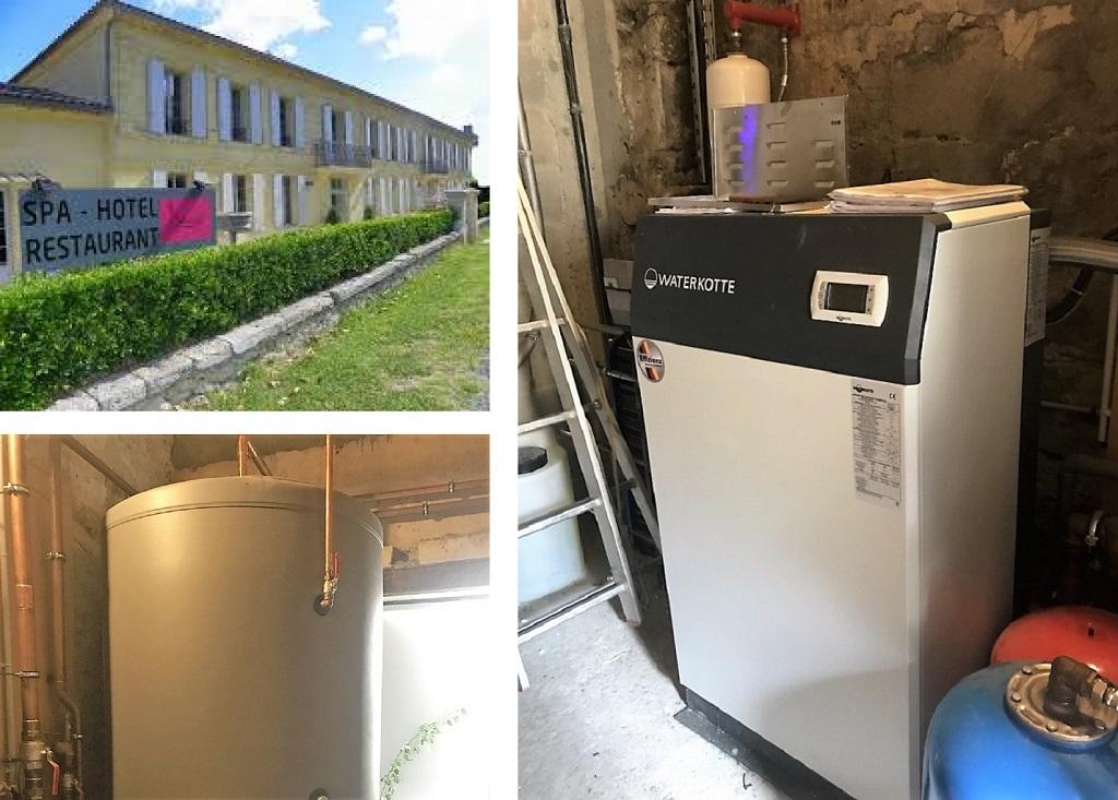 Pompe à chaleur pour hotel spa restaurant L'EPICURIAL- ST PEY DE CASTETS (33)