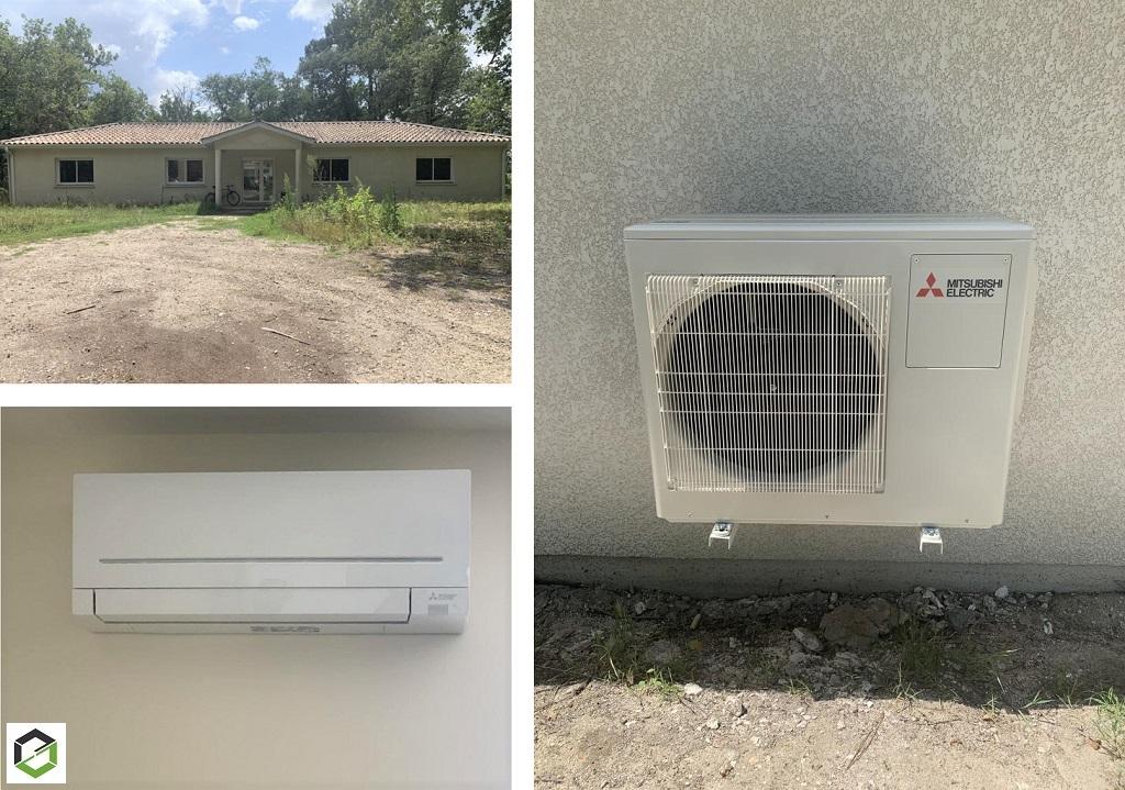Installation climatisation réversible
