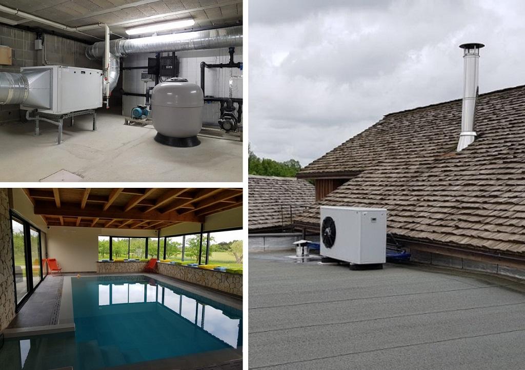 Filtration, déshumidification, chauffage de piscine